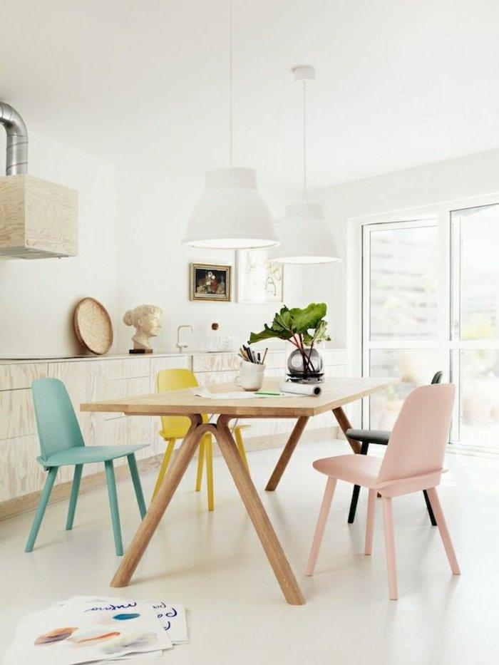 La sélection des plus belles chaises de couleurs pastel