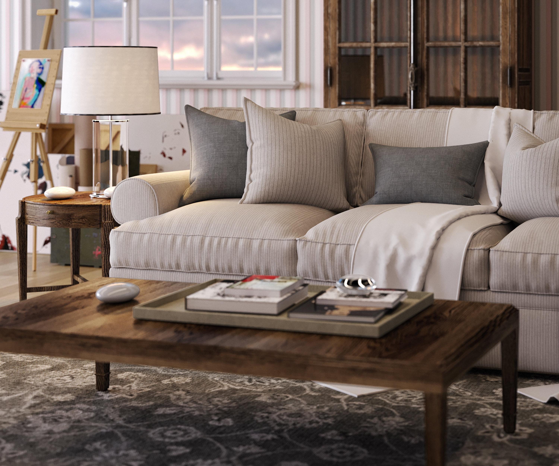 r alisation 3d salon campagne inspiration style campagne. Black Bedroom Furniture Sets. Home Design Ideas