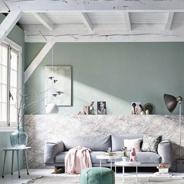 Salon Contemporain Vert,Noir,Rose Bois,Marbre,Textile