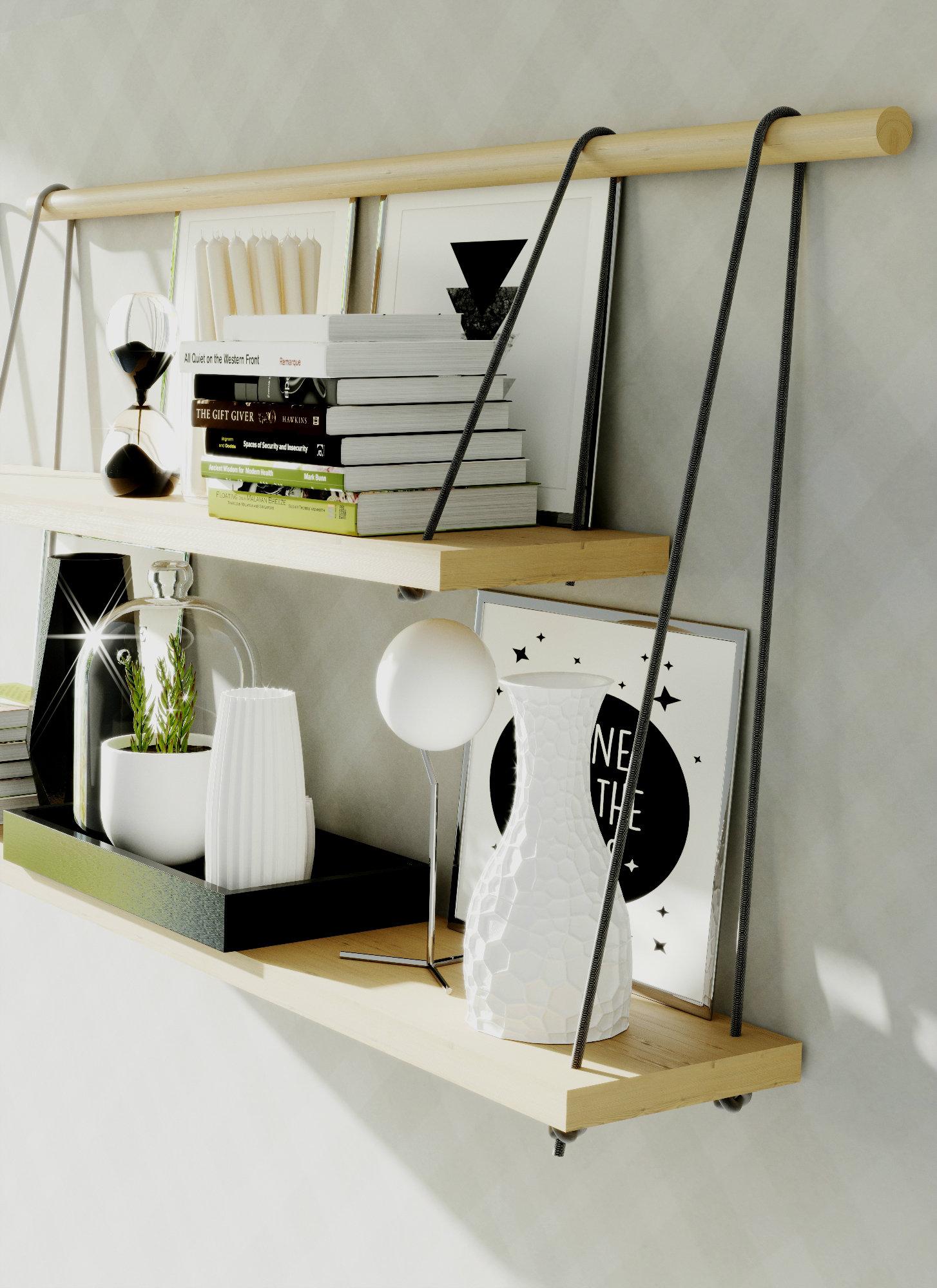 les étagères suspendues : inspiration style industriel