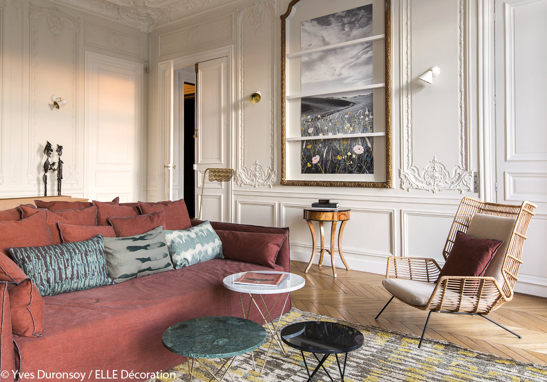 Salon Classique,Contemporain Beige,Rouge,Blanc : inspiration style ...