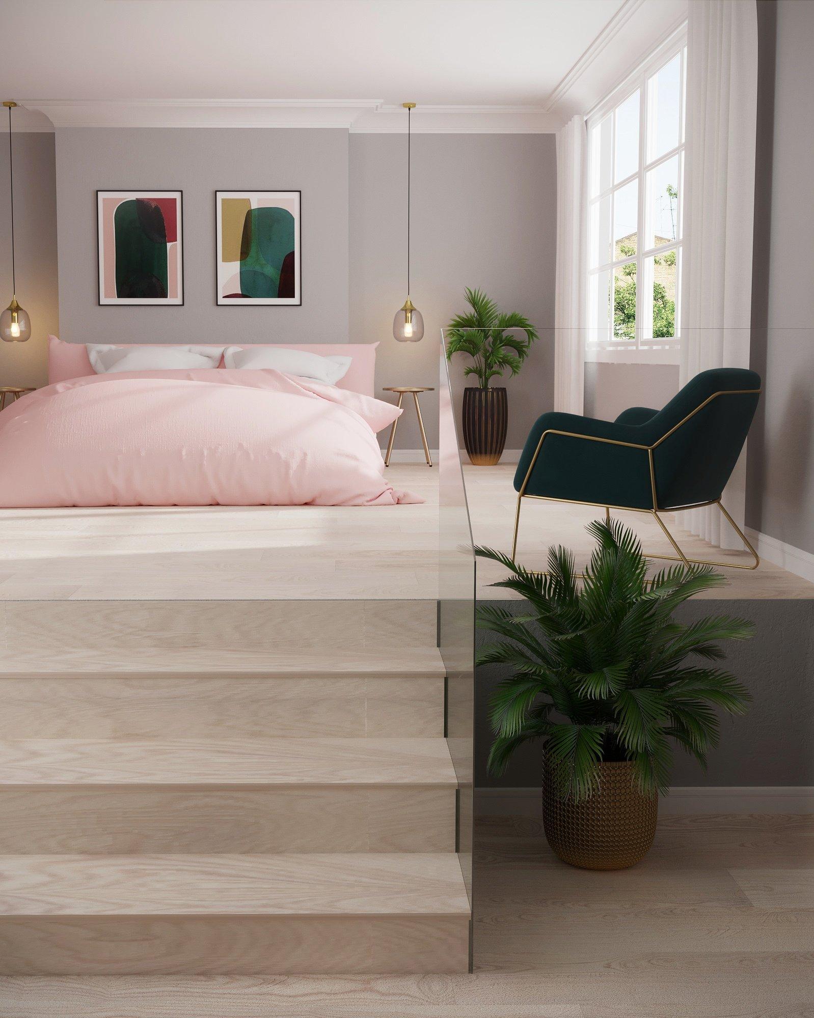 Déco Chambre À Coucher Adulte chambre grise et rose : nos idées déco tendance