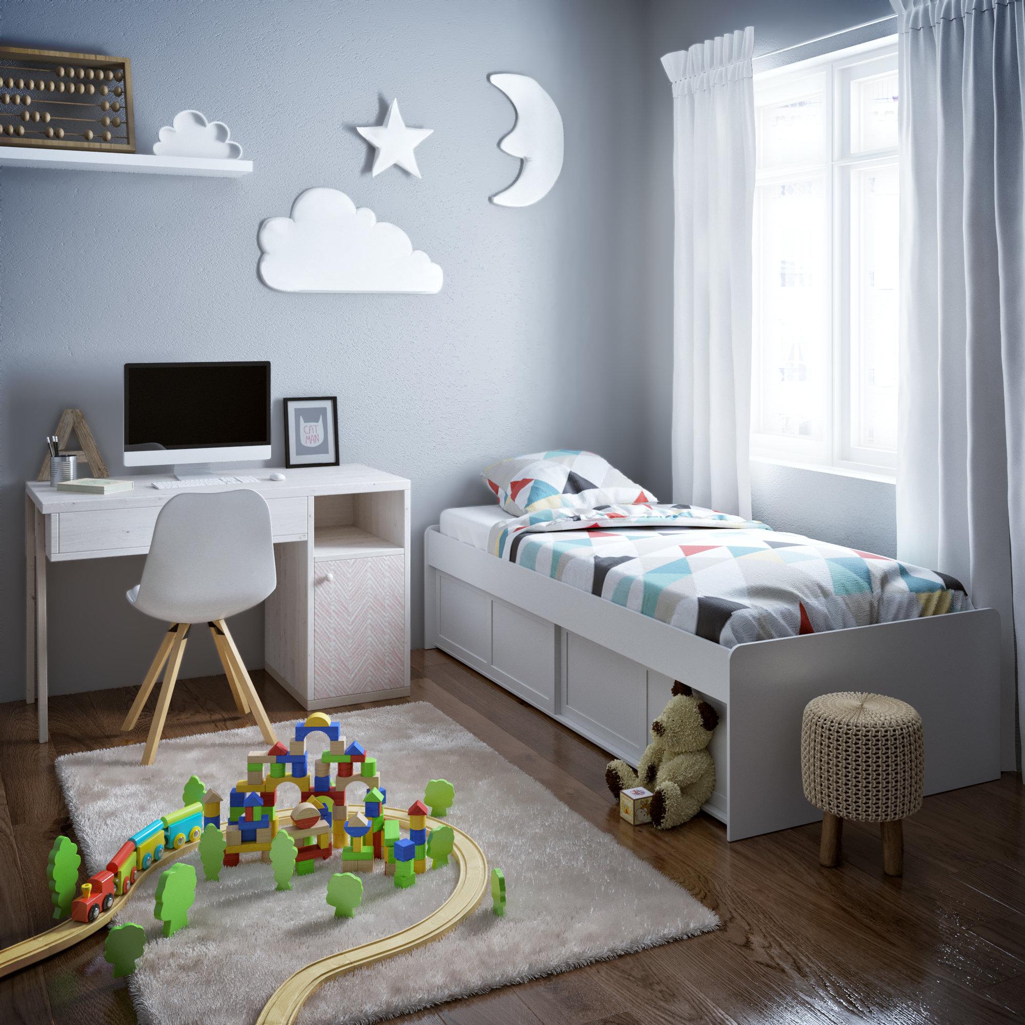 Chambre enfant gris marron blanc : inspiration style Scandinave