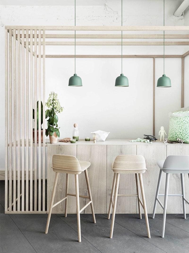 Salle à manger Scandinave,Industriel Beige,Blanc,Vert : inspiration ...