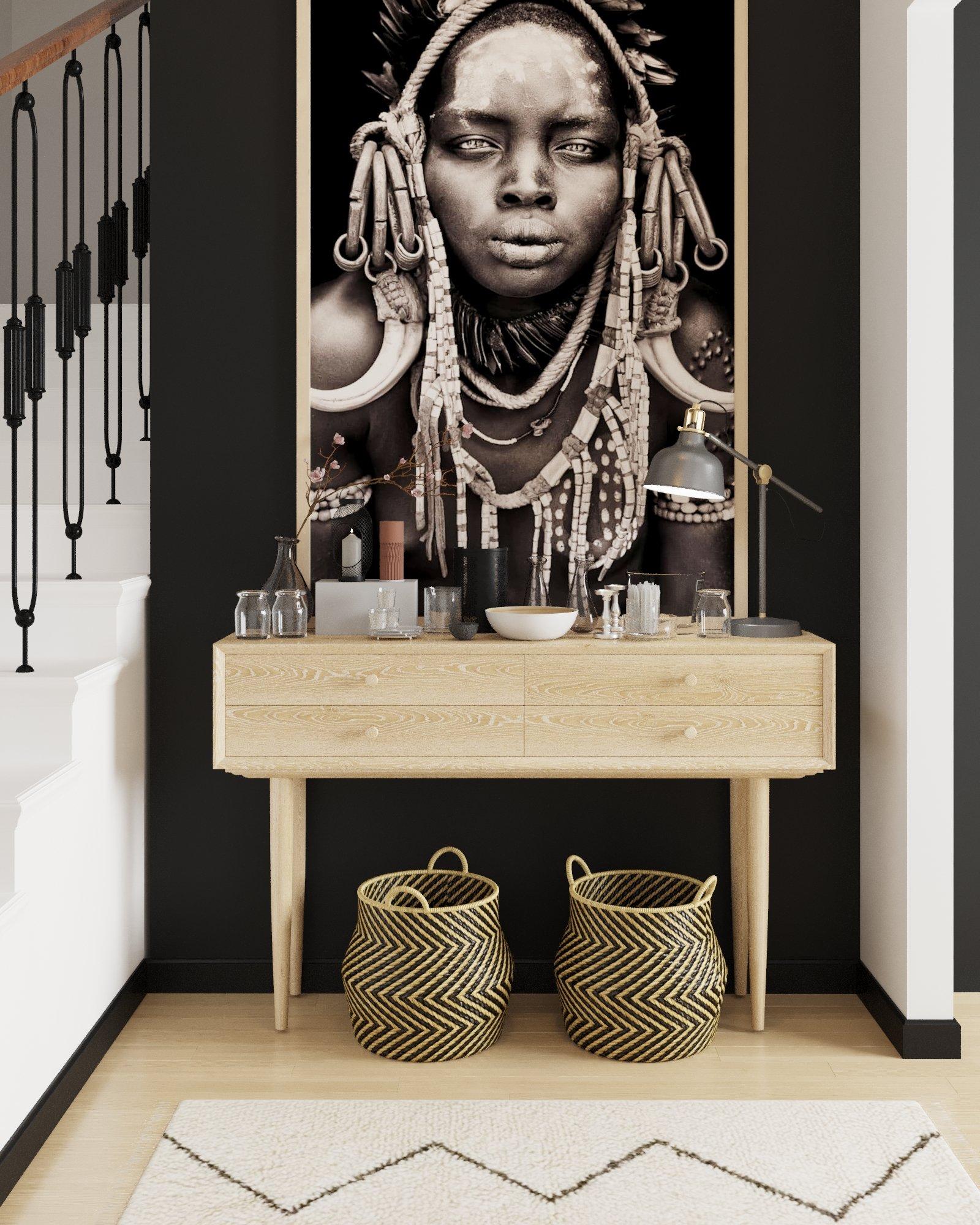 Les décorations ethniques habillent les murs