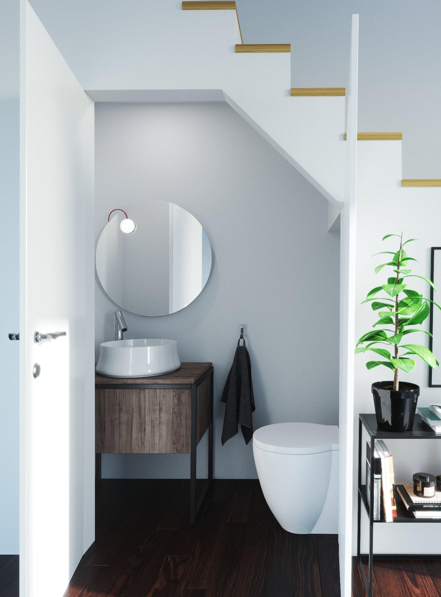Les Wc Sous L Escalier Inspiration Style Scandinave