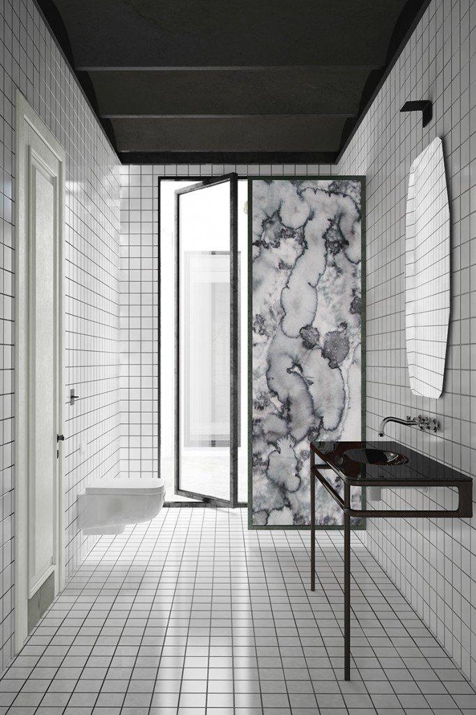 La Salle De Bain Graphique Noir Et Blanc Inspiration