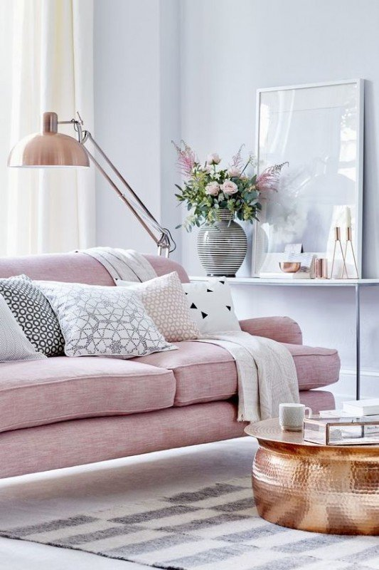 Awesome Salon Scandinave Rose Images - House Interior ...