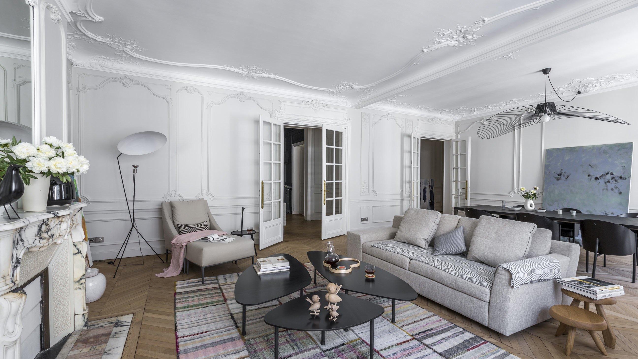 salon s jour contemporain classique gris blanc noir inspiration style contemporain. Black Bedroom Furniture Sets. Home Design Ideas