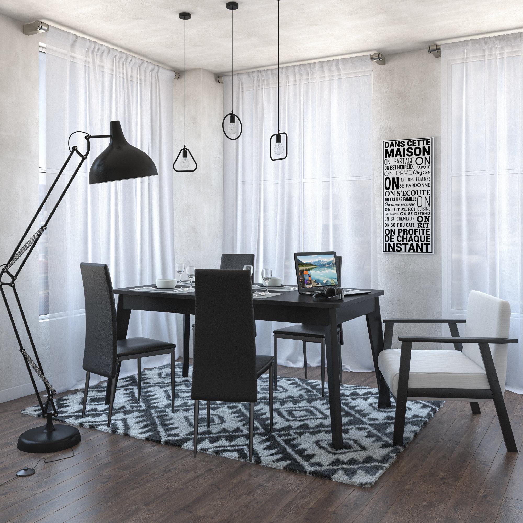 cuisine industrielle noire blanche inspiration style. Black Bedroom Furniture Sets. Home Design Ideas