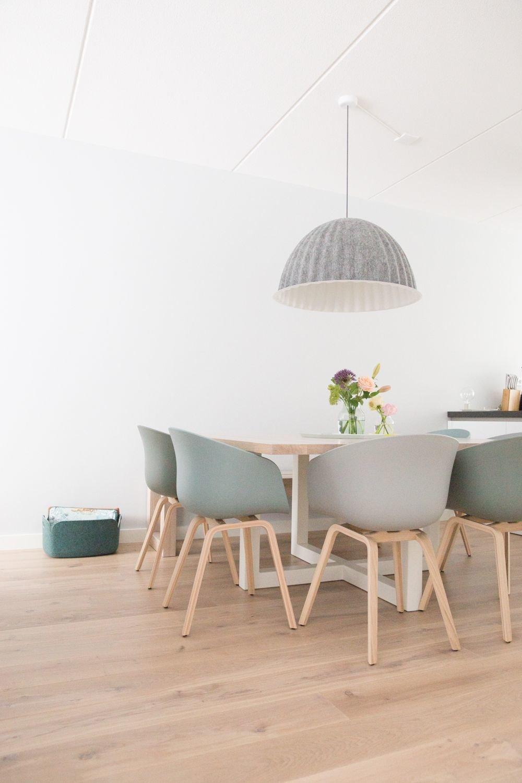 Salle A Manger Scandinave Gris Beige Blanc Inspiration Style