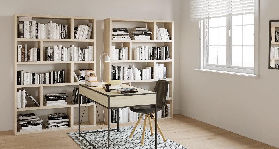 Bureau scandinave beige noir blanc inspiration style scandinave