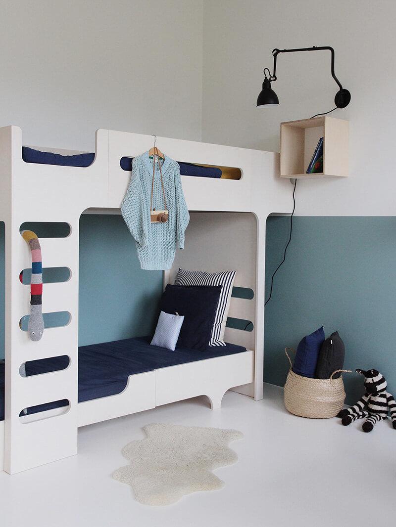 Chambre,Chambre d'enfant Graphique,Nature,Contemporain Blanc,Gris,Beige,Bleu Bois,Chêne,Béton ciré