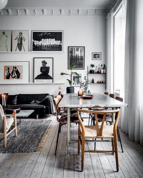 Salon objets muraux scandinave