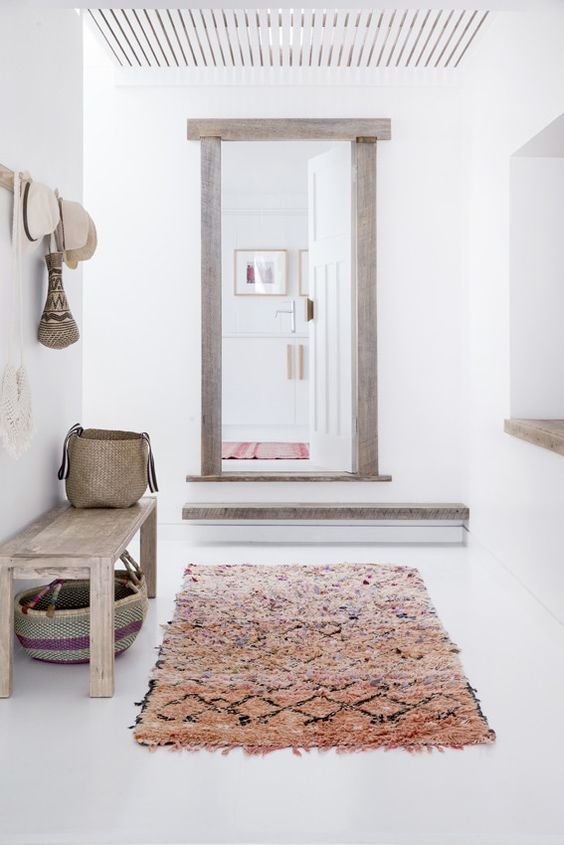 Hall d 39 entr e tapis graphique inspiration style ethnique - Tapis hall d immeuble ...