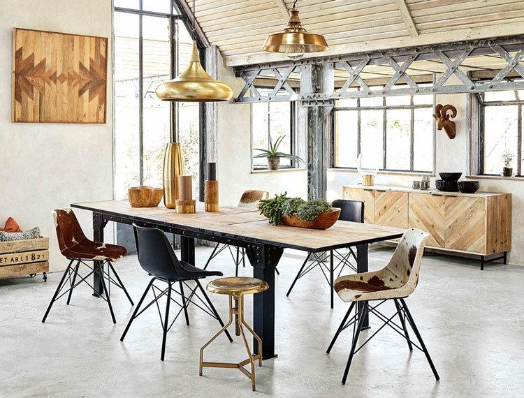 Salle manger scandinave industriel budget d co style scandinave - Deco salle a manger industrielle ...