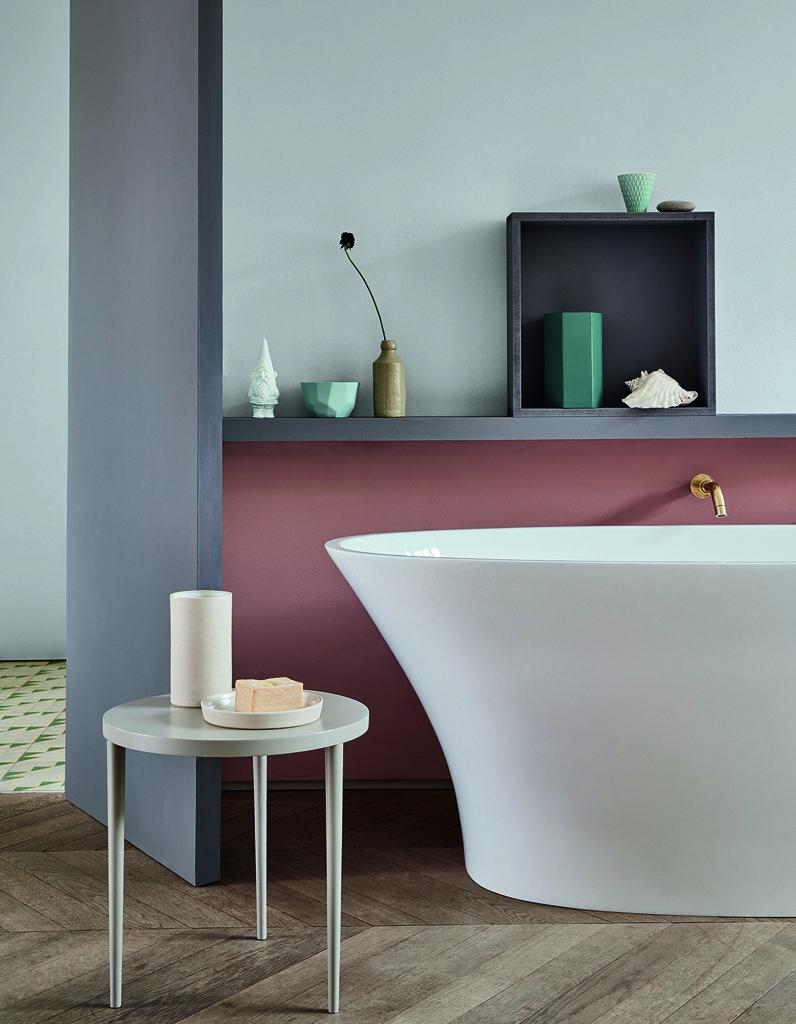 Le Lagom, la nouvelle tendance déco suédoise salle de bain bleue ...
