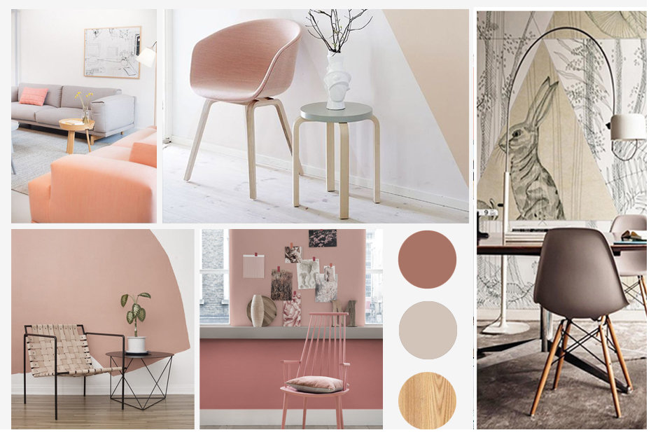 Salon graphique scandinave rose: inspiration style Graphique
