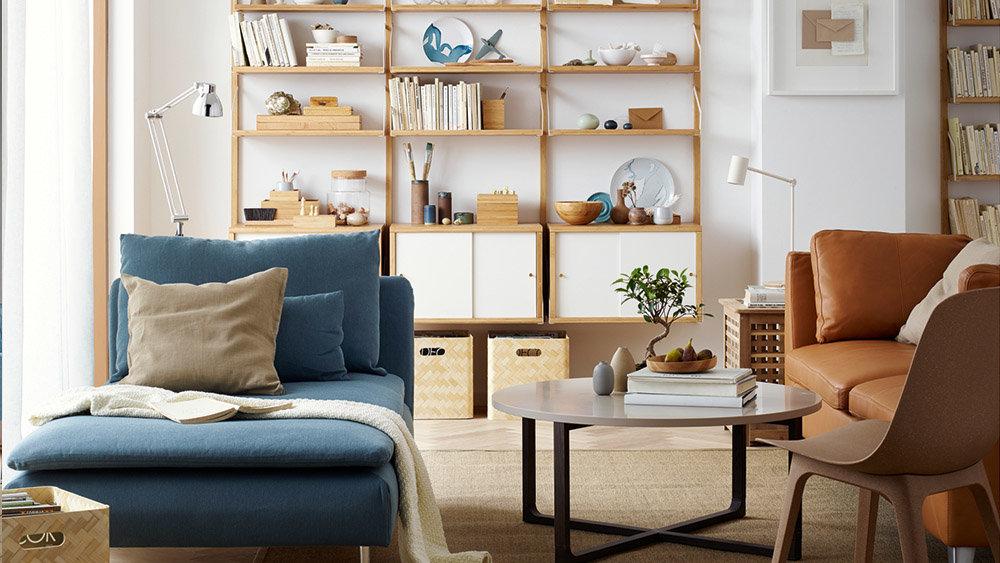 Le Lagom, La Nouvelle Tendance Déco Suédoise Salon Camel Blue. U203a