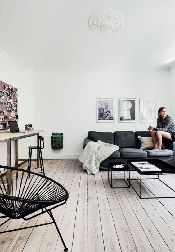 Salon minimaliste scandinave
