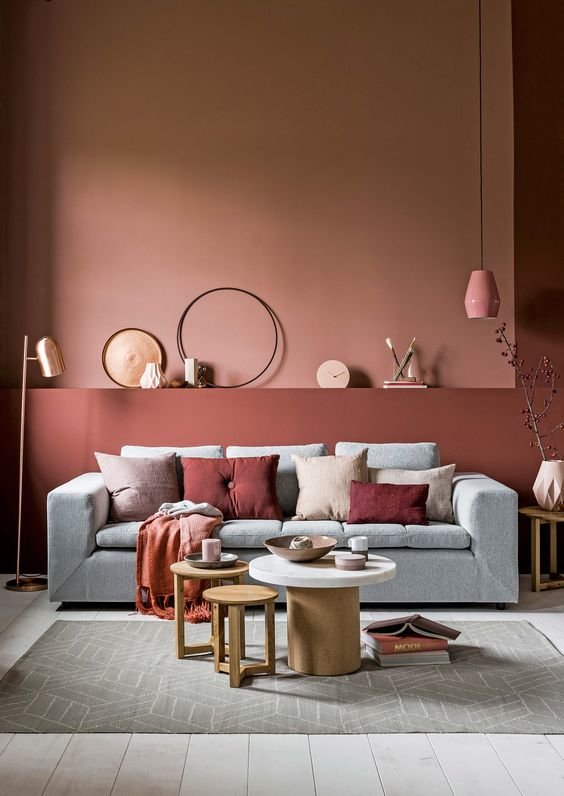 Retour sur la couleur Marsala, la couleur Pantone de l'année 2015 salon contemporain