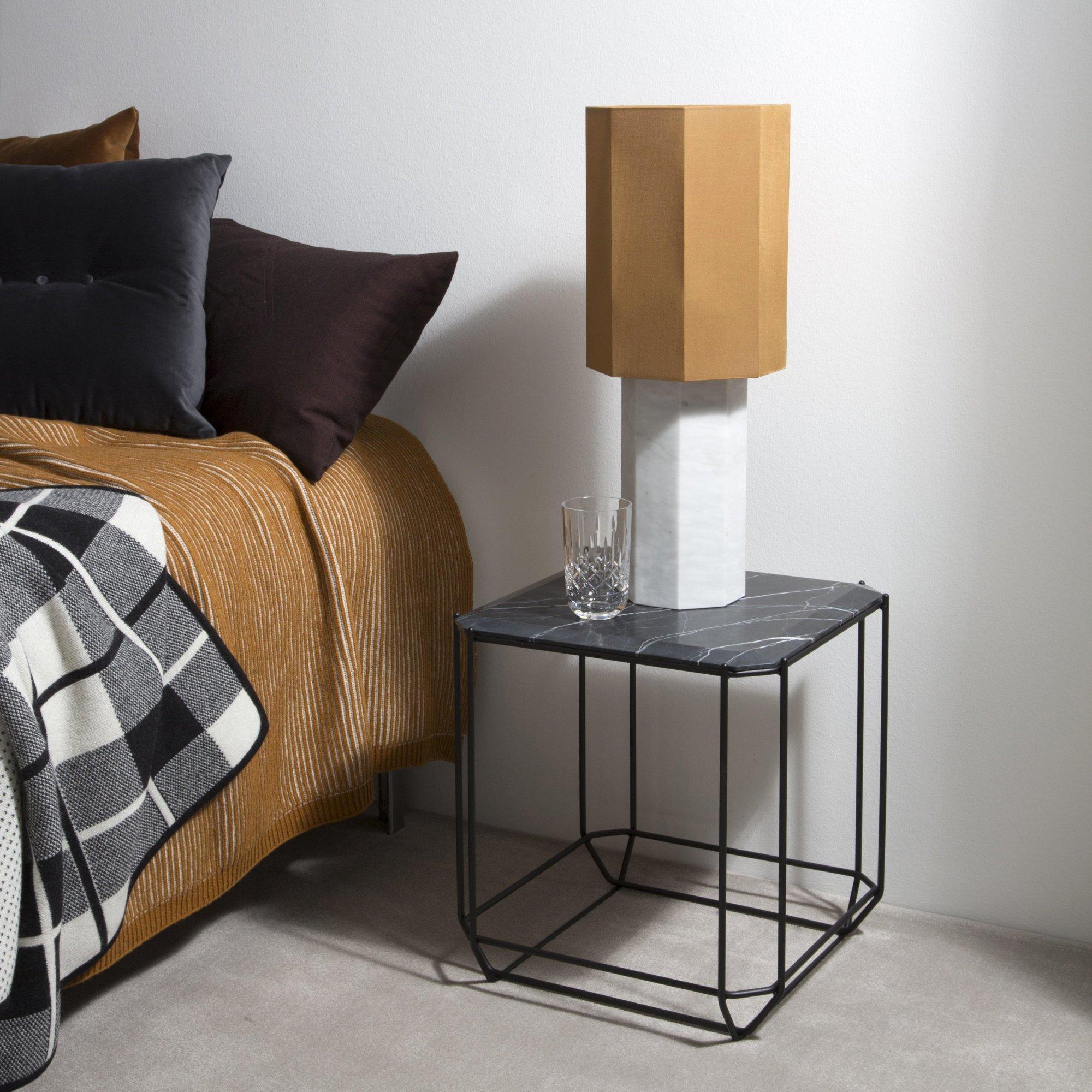 Chambre contemporain orange noir blanc marbre : inspiration style ...