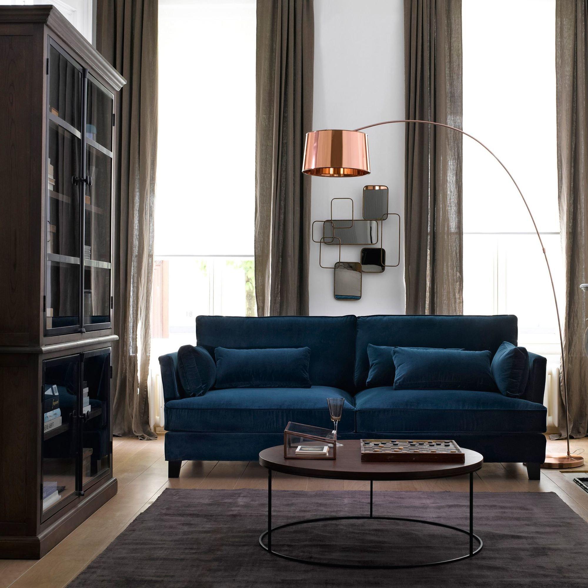 Salon velours bleu