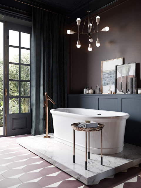 Salle de bain Campagne,Romantique / shabby chic,Vintage ...