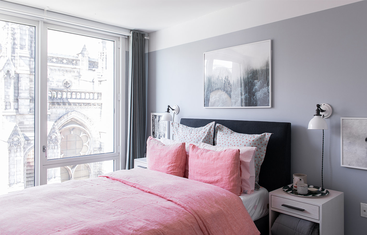 Chambre scandinave rose : budget déco style Scandinave, Textile ...