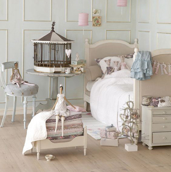 chambre d 39 enfant shabby chic inspiration style romantique shabby chic. Black Bedroom Furniture Sets. Home Design Ideas