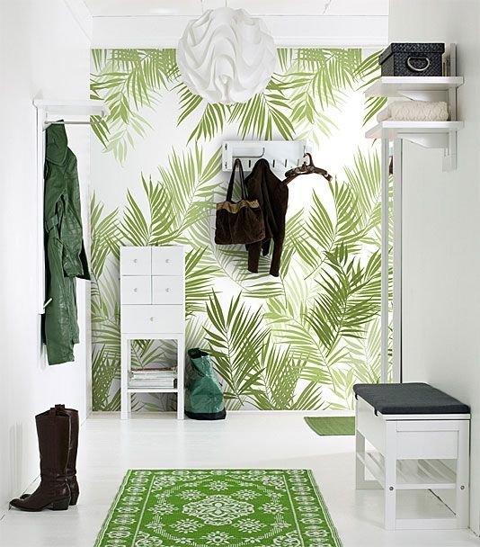 Hall d'entrée style tropical