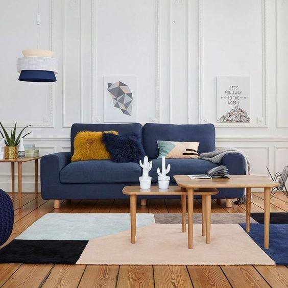 Salon graphique bleu