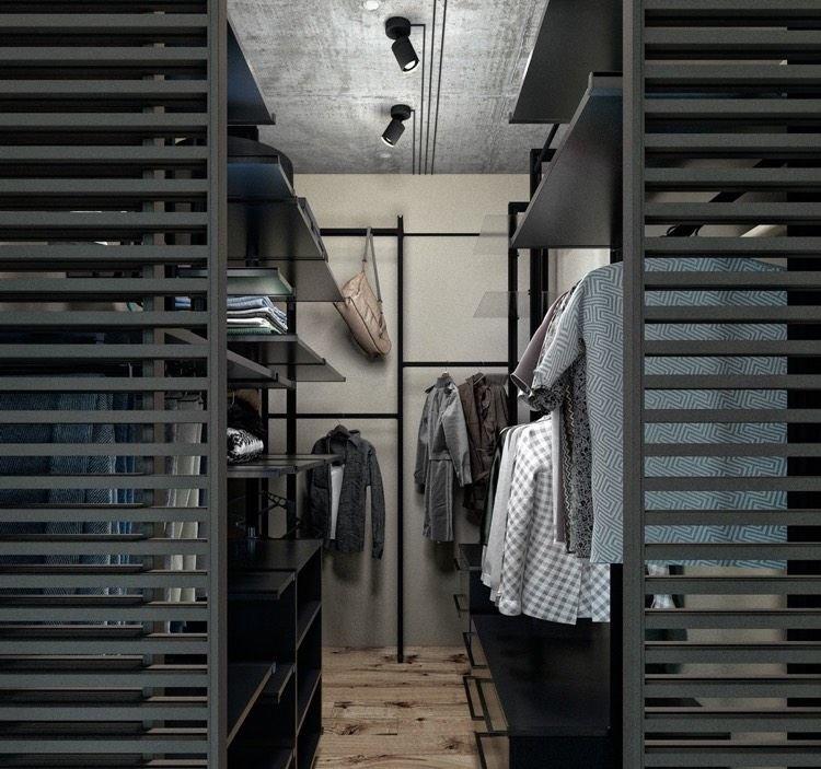 Dressing Industriel dressing industriel: inspiration style industriel, parquet bois