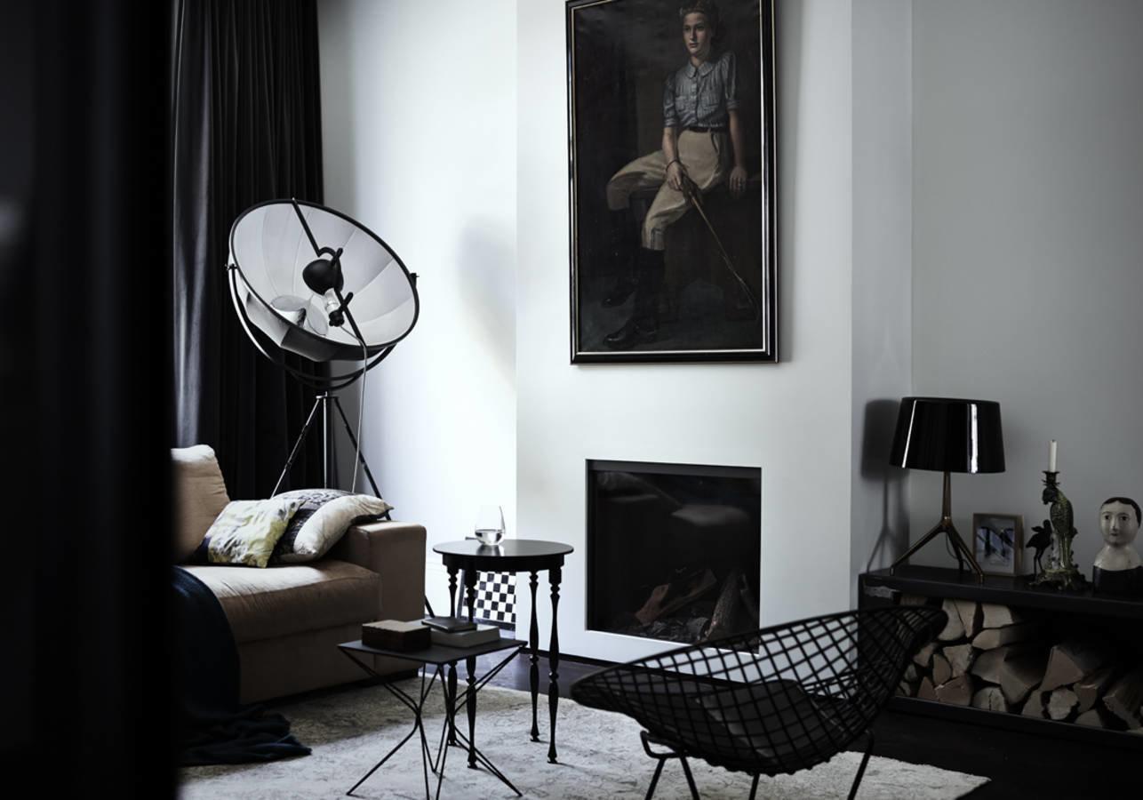 les salons black white salon classique contemporain inspiration style classique. Black Bedroom Furniture Sets. Home Design Ideas