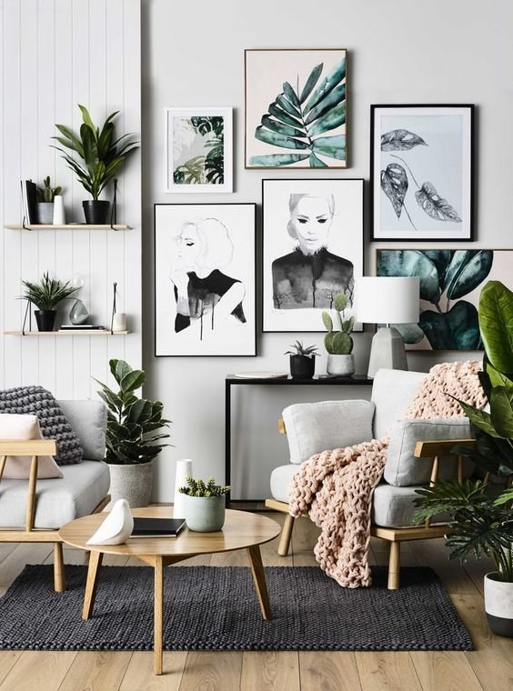 Salon Scandinave Noir Blanc