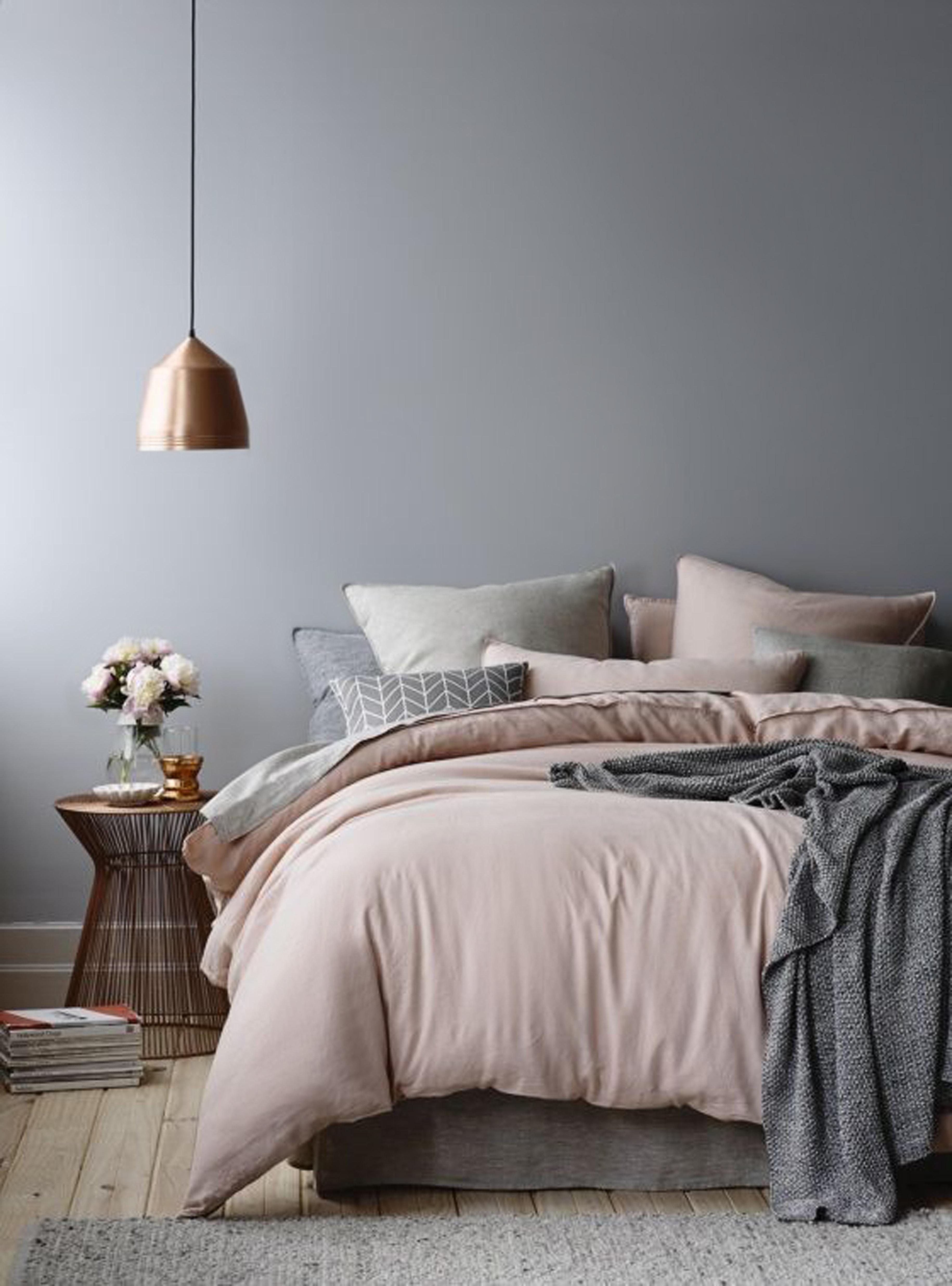 Chambre scandinave gris rose: budget déco style Scandinave