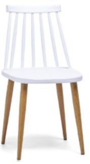 Chaise scandinave à barreaux Elisa x2