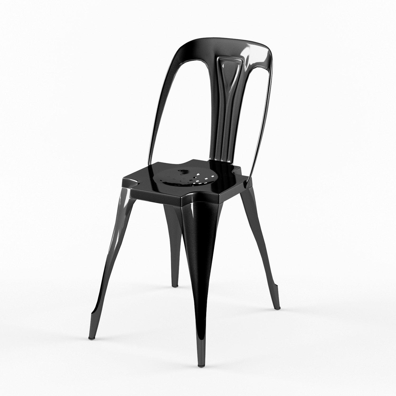 STEEL Lot de 2 chaises