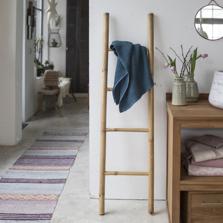 > Voir les Accessoires Echelle porte serviette en bambou naturel ECHELLE PORTE SERVIETTE EN BAMBOU NATUREL