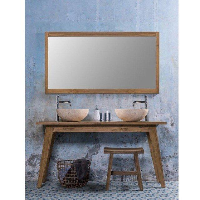 Meuble de salle de bain en bois de teck